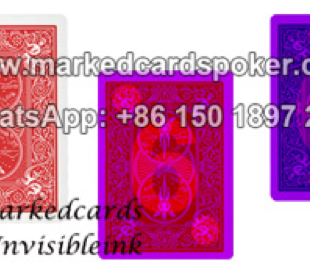 Invisible ink marked cards poker